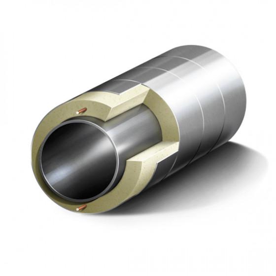 Труба стальная в ППУ изоляции, 108/200мм