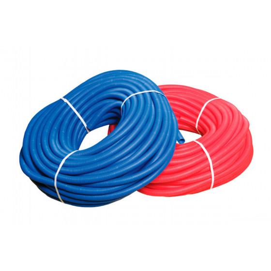 Кожух гофрированный ПНД для м/п трубы 20 (d=32) (красная, синяя)